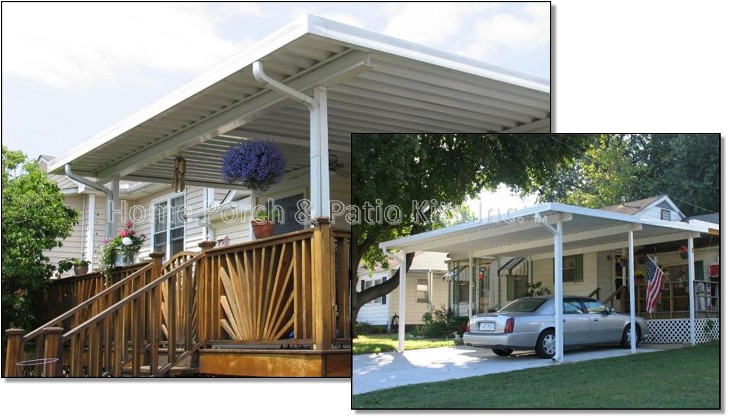 Aluminum Patio Cover Kits Diy W Pan Roofing Systems Aluminum Deck Covers Carports Usa