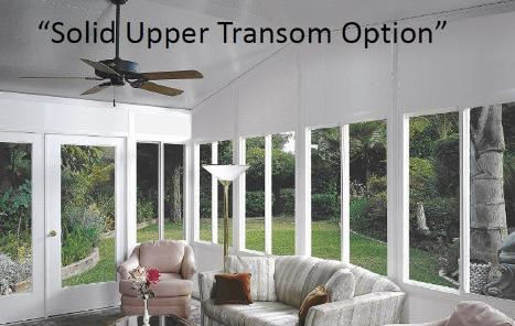 Solid Transom Option