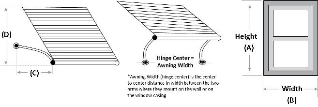 Outdoor Metal Window Awnings Usa Series 5500 Retractable