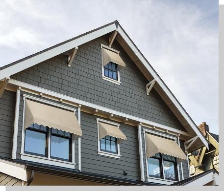 Outdoor Fabric Window Awnings USA | Series 3700 Sunbrella ...
