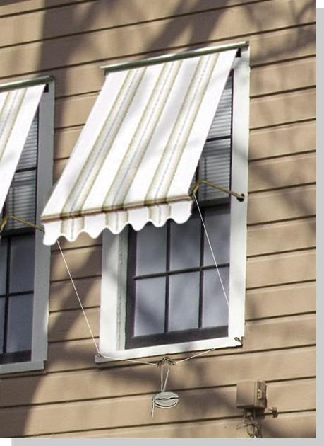 Fabric Window Awnings : Outdoor fabric window awnings usa series sunbrella