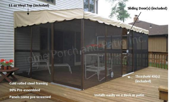Patio mate screenrooms diy screen room kits temporary for Building a screen room