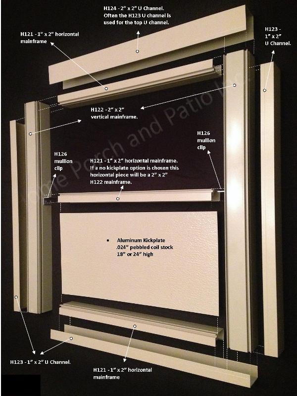 Screen My Porch Kits Aluminum Screen Enclosure Materials